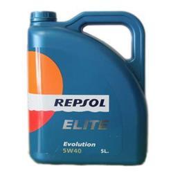 Aceite lubricante para coche Repsol Élite Evolution 5W40.