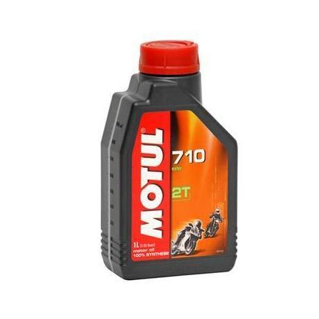 Aceite lubricante para moto Motul 710 sintético 2 tiempos 1 litro.