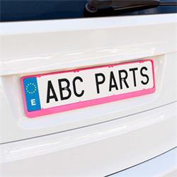 EXT25215 - Porta matricula coche carbon rosa Dacar 3d BCCORONA