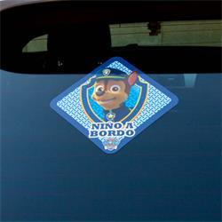 LPC103 - Pegatina coche niño a bordo patrulla canina