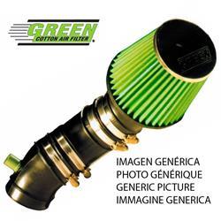P544 Green Kit Admisión Aire Directa Deportiva Seat Ibiza 3 1,4L Mpi (2 Filters) 60Cv 99-02