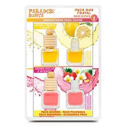 PER40011 - Perfumador botellita Pack duo frutal (limon y fresa) Paradise Scents
