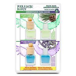 PER40012 - Perfumador botellita Pack duo aromaterapia ( pino y lavanda ) Paradise Scents