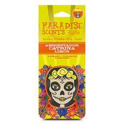 PER60001 - Perfumador catrina limon madera Paradise Scents