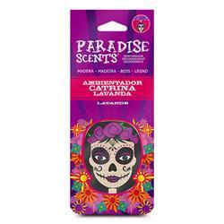 PER60002 - Perfumador catrina lavanda madera Paradise Scents