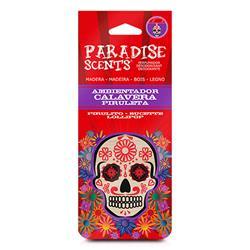 PER60005 - Perfumador calavera piruleta madera Paradise Scents
