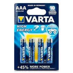 VAR04903 - 4 pilas high e aaa alkalinas high Energy VARTA