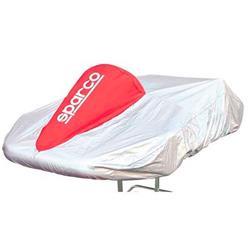 (Stock Last)Cubre Kart Sparco Tejido rojo