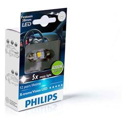 comprar en Autooutlet 128584000KX1 - 1 Lámpara Philips Fest 10.5x38 LED 12858 4000K 12V1W SV8,5 X1