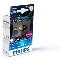 comprar en Autooutlet 128596000KX1 - 1 Lámpara Philips Fest 10.5x38 LED 12859 6000K 12V1W SV8,5 X1