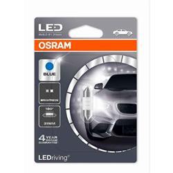 comprar en Autooutlet 6431BL-01B_PL - 1 Lámpara OSRAM LEDriving® 0,5 W 12V SV8.5-8 Festoon C5W 31mm Blue