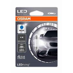 comprar en Autooutlet 6436BL-01B_PL - 1 Lámpara OSRAM LEDriving® 0,5 W 12V SV8.5-8 Festoon C5W 36mm Blue
