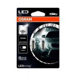 comprar en Autooutlet 3850CW-02B_PL - Set 2 lámparas OSRAM LEDriving® 1W 12V BA9s (T4W) blanco frío 6000 K