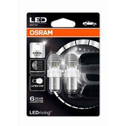 comprar en Autooutlet 1557CW-02B_PL - 2 lámparas OSRAM LEDriving® 2 W / 0,4 W 12V BAY15d P21/5W blanco frío 6000 K