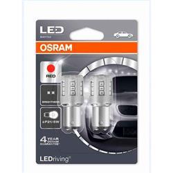 comprar en Autooutlet 1457R-02B_PL - Set 2 bombillas Osram LEDriving® 2 W / 0,4 W 12V BAY15d P21/5WRojo