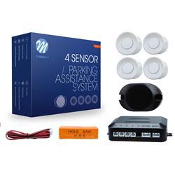 CP17W - M-Tech Sensores de aparcamiento CP17 buzzer, diámetro 18mm - blanco