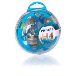 comprar en Autooutlet 55718EBKM - H4 Philips Essential Box lámparas y fusibles 12V KM