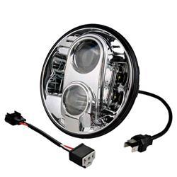 """""""comprar en Autooutlet WHL101 - Faro de carretera LED - redondo 7"""""""" 9-36V, cromado"""""""