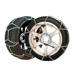 8U790 - S90 juego 2 cadenas rombo nieve 7 mm. metálicas coche E-7 Snovit - TUV GS, ONORM V5117