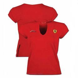 Camiseta mujer Ferrari firma Scudetto rojo talla XL