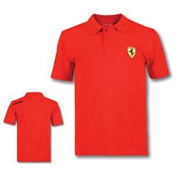 Polo niño Scudetto Ferrari rojo talla 10