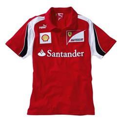 Polo niño Ferrari Escudería F1 2012 rojo talla 12