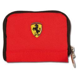 Cartera Ferrari con cremallera rojo