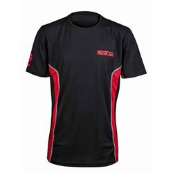 S01233NRRS2M - Camiseta Gt-Vent Talla M Negro/Rojo Sparco