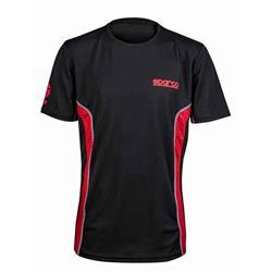 S01233NRRS4XL - Camiseta Gt-Vent Talla Xl Negro/Rojo Sparco