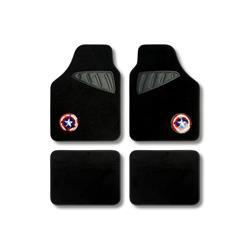 Mejor precio en Auto Outlet CAPA106 - Juego alfombra moqueta 4 pcs. Capitan América universal