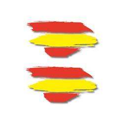 Rebaja de precio de Auto Outlet ADH06593 Pegatina Pincel Bandera España 2 para coche, casa, ordenador, etc..