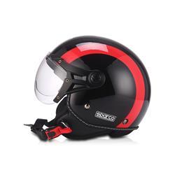 Para tu coche en Auto Outlet SPC03049NGR Casco moto 501 Negro/Rojo talla S. SPARCO ®