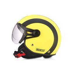 Compra ahora en Auto Outlet SPC09693AMA Casco moto 501 Amarillo/Negro talla S. Mate SPARCO ®