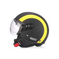 Precio bajo en Auto Outlet SPC17238NGA Casco moto 501 Negro/Amarillo talla M. Mate SPARCO ®