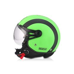 Oferta en Auto Outlet SPC18624VER Casco moto 501 Verde/Negro talla L. Mate SPARCO ®
