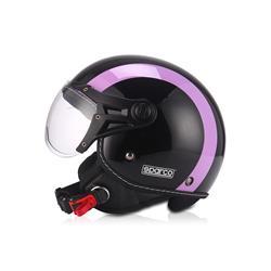 Compra en Auto Outlet SPC22682NGV Casco moto 501 Negro/Violeta talla Xl. SPARCO ®