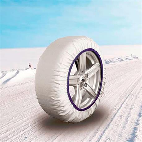 EASYSOCK - Juego de 2 cadenas textiles de nieve, para coche TALLA: S