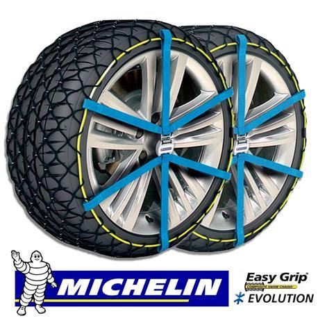 Evolution 6 - Juego de 2 cadenas de nieve Michelin Easy Grip homologación UNI 11313:2010