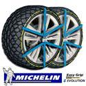 Evolution 8 - Juego de 2 cadenas de nieve Michelin Easy Grip homologación UNI 11313:2010